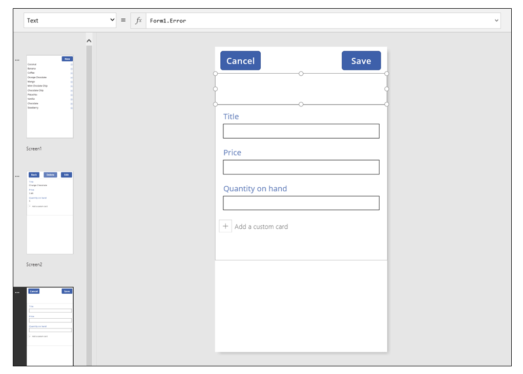 "Display form with added ""Edit"" button"