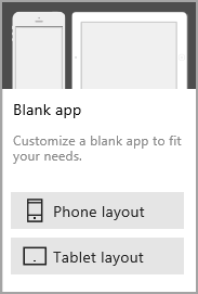 Blank app - phone layout