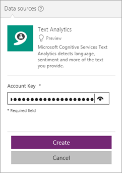 Text analytics connector