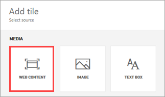 Add web content to a dashboard