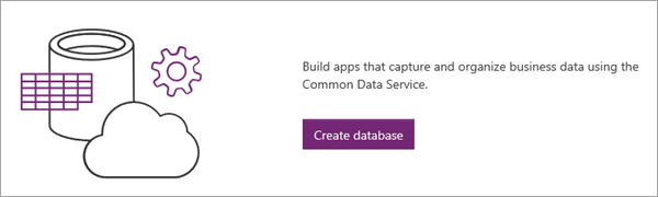 Common Data Service create database