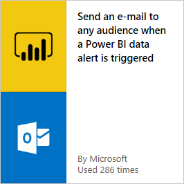 Send email when a Power BI data alert is triggered