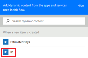 List ID dynamic content