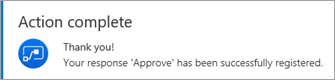 Approval action complete