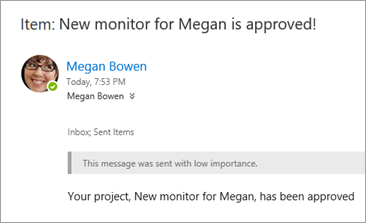 Email to Megan Bowen