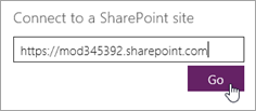 SharePoint URL for connection