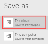 Save to the cloud