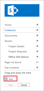Add app link to SharePoint site