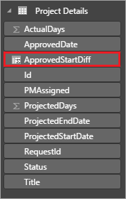 Add ApprovedStartDiff column