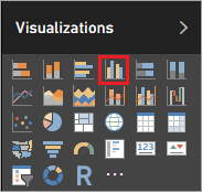Visualizations - clustered column chart