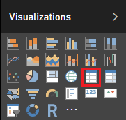 Visualizations - table