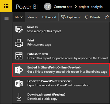 Embed in SharePoint Online