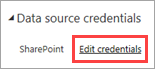 Edit data source credentials