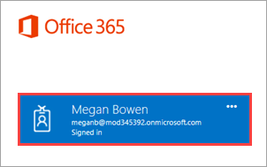 Signed into Office 365