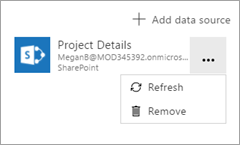 Remove Project Details data source