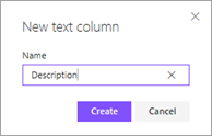 Create description column