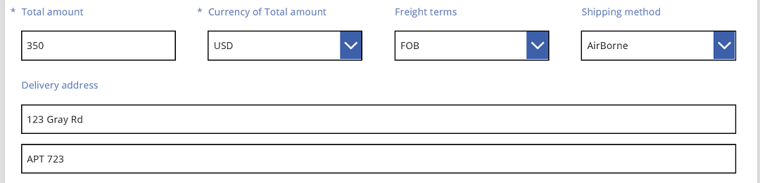 Sales order delivery address renaming the second line label