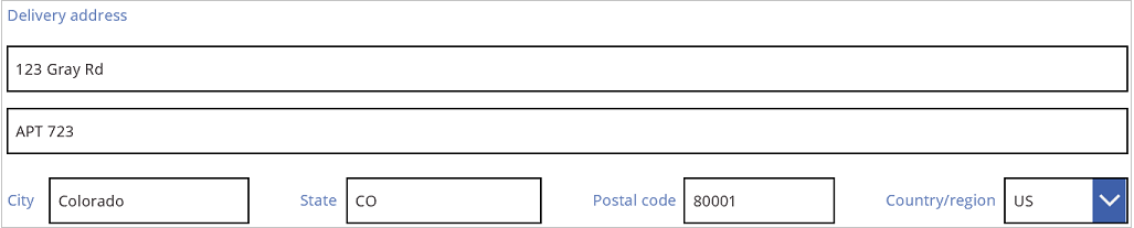 Sales order delivery address with more concise third line