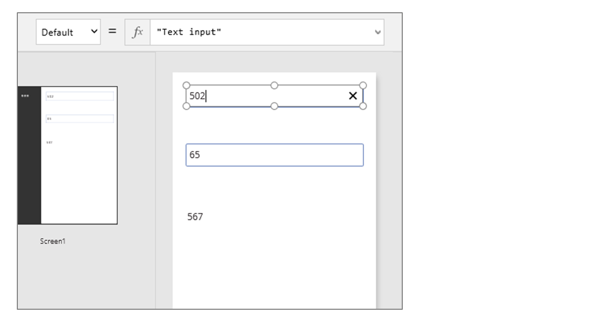 Illustration of PowerApps recalc adding two numbers together