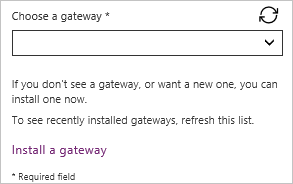 Choose gateway