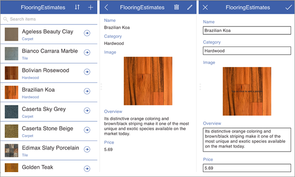 PowerApps three screen app
