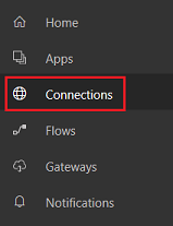 Option Connection (Connexion) du menu File (Fichier)