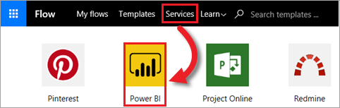 Power BI dans Microsoft Flow