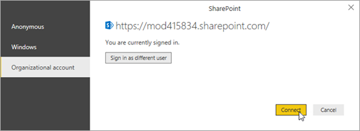 Se connecter à SharePoint Online