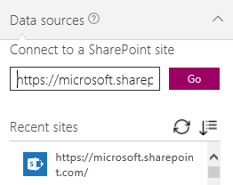 Select a SharePoint site