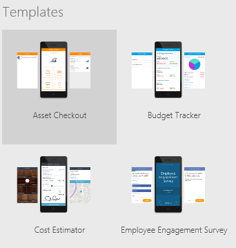 Open a PowerApps template