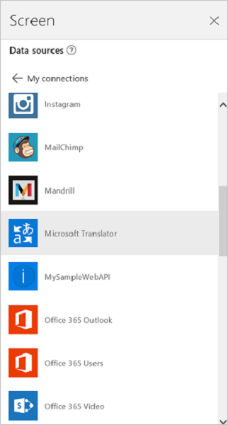 Microsoft Translator に接続する