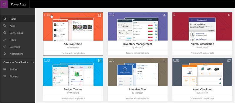 PowerApps sample apps