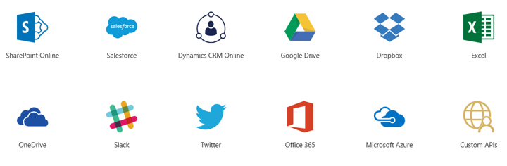 PowerApps data sources and connectors