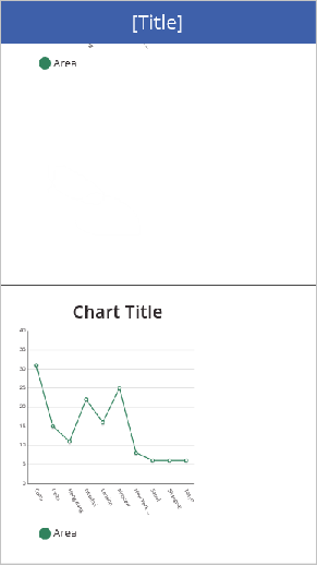 Preview shows the line chart