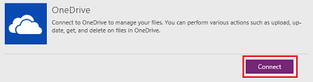 Connect to OneDrive