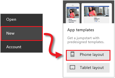 PowerApps app template